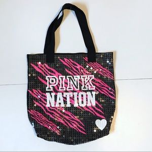 Victoria Secret PINK zebra tote bag